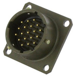Amphenol, 451 26 Way Panel Mount MIL Spec Circular Connector Receptacle, Socket Contacts,Shell Size 16, Bayonet Coupling