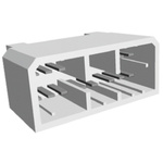 TE Connectivity, MULTILOCK 070 14 Way 2 Row Right Angle PCB Socket, Through Hole, Solder Termination