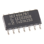 Nexperia HEF4047BT,652 Monostable Multivibrator, 14-Pin SOIC