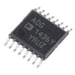 Analog Devices ADG1436YRUZ Analogue Switch Dual SPDT 12 V, 15 V, 9 V, 16-Pin TSSOP