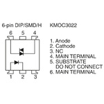 Cosmo, KM0C3022 Phototriac Output Optocoupler, Through Hole, 6-Pin DIP