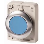 Eaton Flush Blue Push Button - Momentary, M30 Series, 30mm Cutout, Round