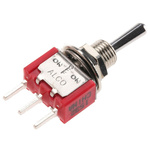 TE Connectivity SPDT Toggle Switch, On-Off-On, PCB