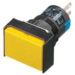 Idec Single Pole Double Throw (SPDT) Momentary Push Button Switch, IP65, 24 x 30mm, Panel Mount, 250V ac/dc