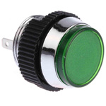 Signal Construct Green Indicator, Tab Termination, 12 → 14 V, 16mm Mounting Hole Size