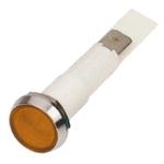 Arcolectric Orange Incandescent Indicator, Tab Termination, 12 V, 10mm Mounting Hole Size