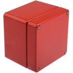 Rose Aluminium Standard, Red Die Cast Aluminium Enclosure, IP66, 100 x 100 x 81mm Lloyds Register, Maritime Register,