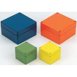 Rose Aluminium Standard, Orange Die Cast Aluminium Enclosure, IP66, 100 x 100 x 81mm Lloyds Register, Maritime