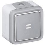 Legrand Single Pole Single Throw (SPST) Momentary Push Button Switch, IP55, Wall Mount, 250V