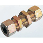 Parker Hydraulic Bulkhead Compression Tube Fitting M16 x 1.5 Made From Chromium Free Zinc Plated Steel