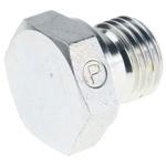 Parker, Steel Hydraulic Blanking Plug, Max Operating Pressure 450 bar, Thread Size 1/4 in