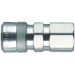 CEJN Steel Female Hydraulic Quick Connect Coupling, G 3/8 Female