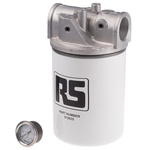 RS PRO Hydraulic Spin-On Filter Can, 10μm, 95L/min 1-1/4 in
