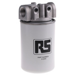 RS PRO Hydraulic Spin-On Filter Can, 10μm, 65L/min 3/4 in