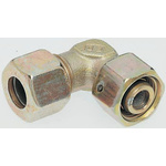 Parker Zinc Plated & Passivated Hydraulic Elbow Compression Tube Fitting, EW12SCF