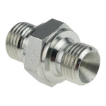 Parker Hydraulic Straight Threaded Adapter 4HMK4S, Connector A G 1/4 Male, Connector B G 1/4 Male
