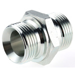 Parker Hydraulic Straight Threaded Adapter 16HMK4S, Connector A G 1 Male, Connector B G 1 Male
