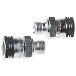 Parker Hydraulic Straight Threaded Adapter 4-4F6MK4S, Connector A G 1/4 Male, Connector B G 1/4 Female