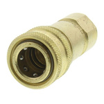Parker Brass Female Hydraulic Quick Connect Coupling, G 1 Female