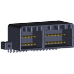 TE Connectivity, MULTILOCK 040 II 2.5mm Pitch 28 Way 2 Row Right Angle PCB Socket, Through Hole, Solder Termination