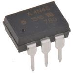 Broadcom, 4N46-000E DC Input Darlington Output Optocoupler, Through Hole, 6-Pin DIP