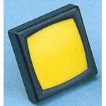 Yellow Button Tactile Switch, SPST-NO 80 mA