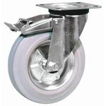 LAG Braked Swivel Swivel Castor, 80kg Load Capacity, 100mm Wheel Diameter