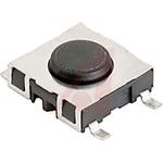 IP40 Black Button Modular Switch, Single Pole Single Throw (SPST) 1.05mm Surface Mount