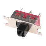 Panel Mount Slide Switch Single Pole Double Throw (SPDT) Latching 6 A @ 120 V ac, 6 A @ 28 V dc Slide