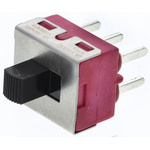 PCB Slide Switch Double Pole Double Throw (DPDT) Latching 6 A @ 120 V ac, 6 A @ 28 V dc Slide