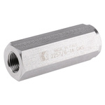 RS PRO Stainless Steel, Steel Hydraulic Check Valve, BSP 1/4, 110L/min