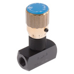RS PRO Line Mounting Hydraulic Flow Control Valve, G 1/8
