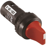 ABB 2 Position Short Handle Red Selector Switch Complete - 22mm Cutout Diameter