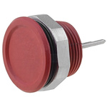 Red Pc Pin Push Button Switch, , IP67, IP69K, 100 mA, Free Polarity, -40 → +85°C