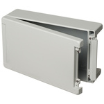 Bopla Bocube Alu, Grey Aluminium Enclosure, IP66, IP68, IP69, Flanged, 299 x 173 x 90mm