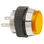 Signal Construct Yellow Indicator, Tab Termination, 12 → 14 V, 16mm Mounting Hole Size