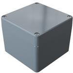 Rose Aluminium Standard, Grey Die Cast Aluminium Enclosure, IP66, 100 x 100 x 81mm Lloyds Register, Maritime Register,