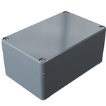 Rose Aluminium Standard, Grey Die Cast Aluminium Enclosure, IP66, 125 x 80 x 57mm Lloyds Register, Maritime Register,