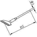 Ersa 452 Series Straight Knife Desoldering Gun Tip, 25 mm