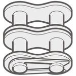 Renold Renold (Blue Box) 08B-2 Offset Link Steel Roller Chain Link