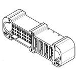 Molex, EXTreme Ten60Power, 46562 2.54mm Pitch 28 Way 3 Row Straight PCB Socket, Through Hole, Press-Fit Termination