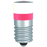 LED Reflector Bulb, E10, Red, Single Chip, 9.7mm dia.