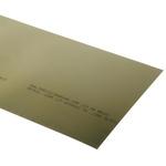 Yellow Brass Shim, 2.5m x 150mm x 0.1mm