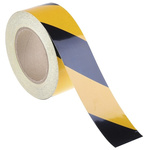 RS PRO Black/Yellow High Visibility Tape 50mm x 25m