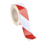 RS PRO Red/White High Visibility Tape 50mm x 25m