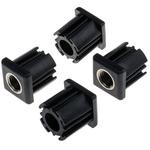 RS PRO Square Nylon Threaded Tube Insert, M20, 40 x 40 x 43mm, 1000kg Static Load Capacity