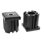RS PRO Square Nylon Threaded Tube Insert, M16, 50 x 50 x 55mm, 1200kg Static Load Capacity