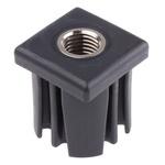 RS PRO Square Nylon Threaded Tube Insert, M20, 50 x 50 x 55mm, 1200kg Static Load Capacity