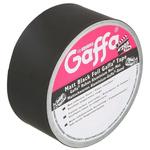 Advance Tapes AT205 Black Matt Gaffa Tape, 50mm x 25m, 0.09mm Thick