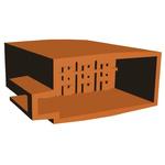 TE Connectivity, AMP FASTIN-FASTON 8 Way Nylon 66 Crimp Terminal Housing, 6.35mm Tab Size, Natural